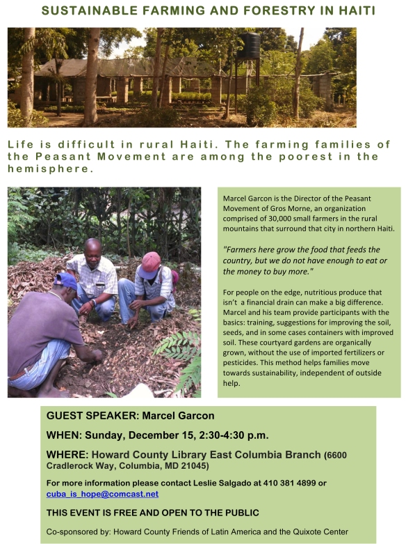 Microsoft Word - Marcel flyer Sustainable Farming and Forestry i