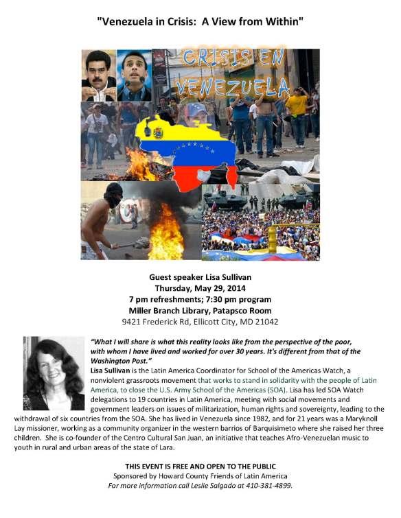 Venezuela in Crisis flyer