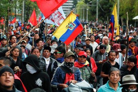 Ecuador IMF Protest